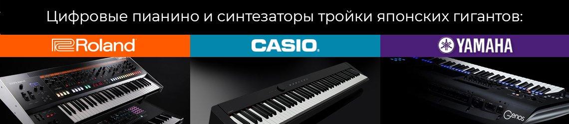 Синтезаторы и цифровые пианино Casio