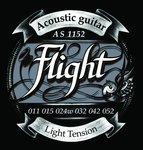 Струны для акустической гитары Flight AS1152 11-52, бронза посеребренная