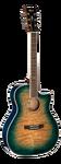 Электроакустическая гитара Cort GA-QF Coral Blue Burst